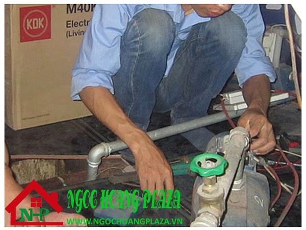 Thợ sửa máy bơm nước tại quận ba đình